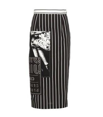 skirt pencil skirt cotton black