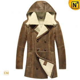 Sheepskin Coat for Men with Hood CW878159