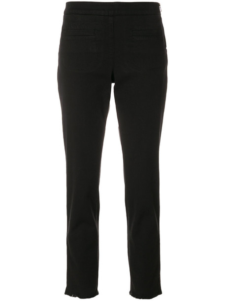 women spandex cotton black pants