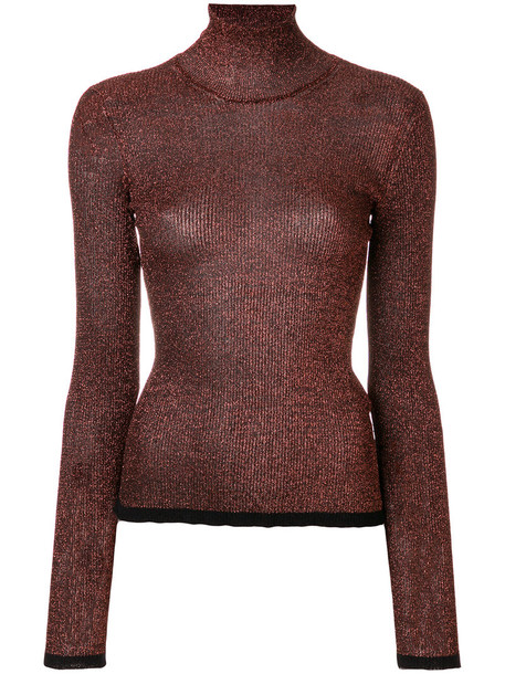 Missoni sweater high women high neck brown