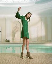 dress,green dress
