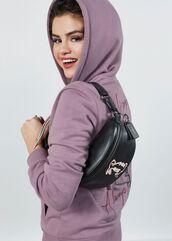 sweater,selena gomez,celebrity,lilac,hoodie,coach