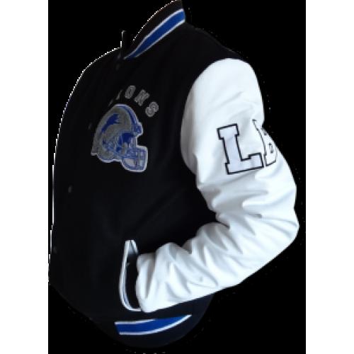 Detroit Lions Beverly Hills Cop Axel Foley Baseball Letterman Jacket