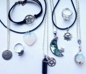 jewels,pentagram,pentagram necklace,silver pentagram,necklaces & pendants,pendant,jewelry,sun,crystal,crystal neckalce,grunge,grunge jewelry,goth,tumblr,tumblr jewelry,tumblr girl,vans warped tour
