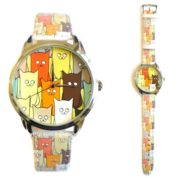 jewels unusual watch watch watch unique watch funny watch beautiful watch cats designer watch leather watch colourful watch ziz watch ziziztime