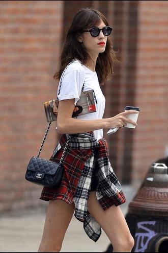 blouse alexa chung prada flannel