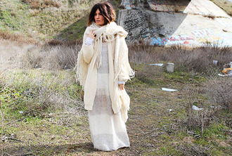 madame rosa blogger dress cardigan scarf shoes