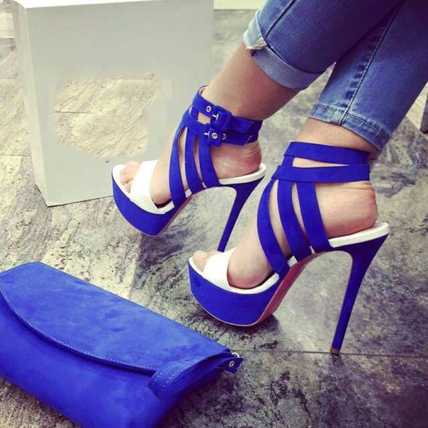 Shoes: heels, blue heels, cobalt, cobalt blue, cobalt blue heels ...