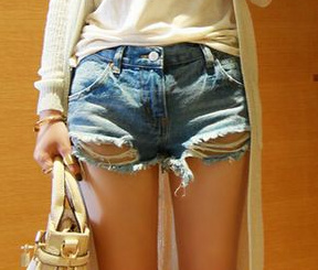 Torn vintage denim shorts · fashion struck · online store powered by storenvy
