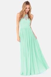 dress,mint,long,prom dress,baby pink dress,long dress,revolve clothing