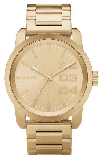 Diesel® large round bracelet watch