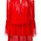 Roberto cavalli lace trimmed drop-waist dress, women's, size: 38, red, silk