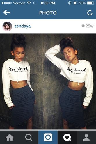 top crop tops cropped sweater cropped hoodie girly fashion style stule zendaya sweater cute sweater skirt
