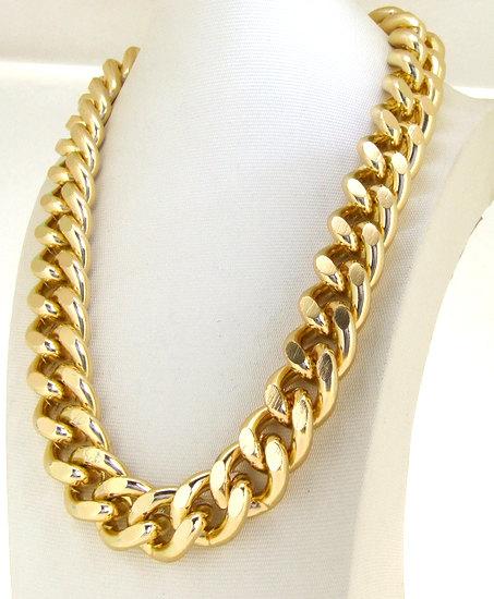 Heavy shiny cut light gold plated chunky aluminium by meetlyluck