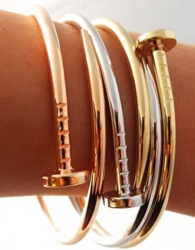 Nail gold belt bracelet love blogger