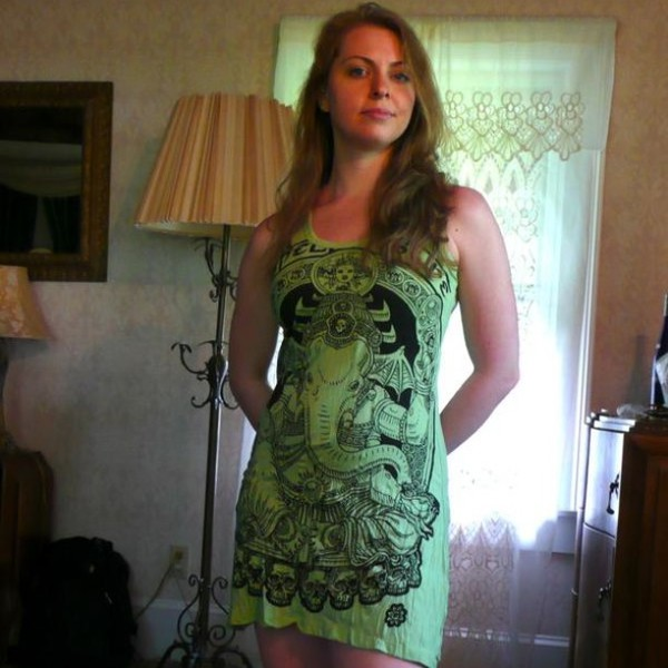tank top tank top dress dress dreamcatcher ganesh ganesha yoga yoga top green dress green