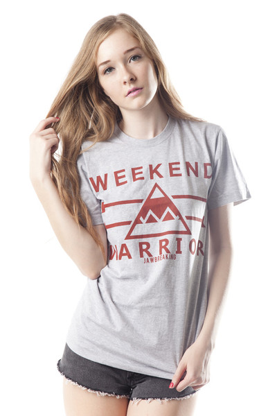 Weekend Warrior T-Shirt - Red/Gray                           | Jawbreaking