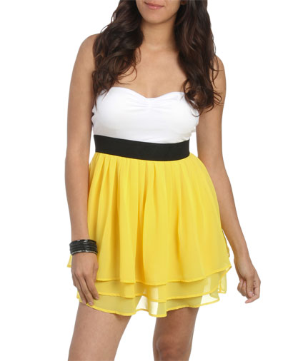396f3328d Sweetheart 2Fer Tiered Tube Dress | Shop Junior Clothing at Wet Seal