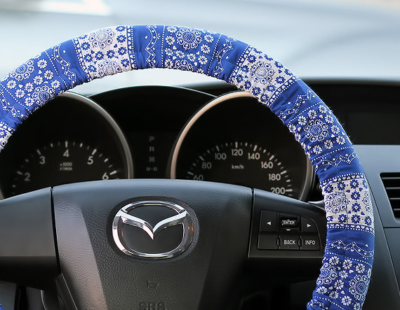 Steering Wheel Cover Bow Wheel Car by SteeringWheelCover on Etsy