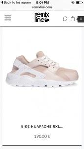 shoes,nike sneakers,nike,blush pink,pink sneakers,huarache