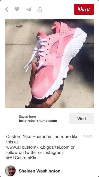 shoes light pink hurraches huarache nike custom shoes