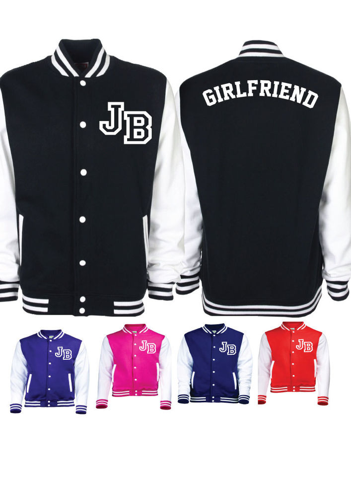 JB Girlfriend Belieber Bieber Fans Varsity Baseball Jacket Sweater Believe Tour | eBay