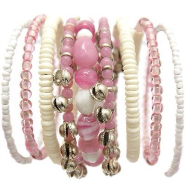 nail accessories jewels pink pink bracelet
