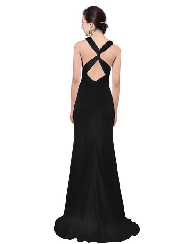 evening dress long dress evening dress black dress prom dress sexy dress formal dress cross over dress