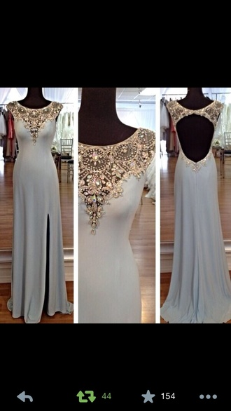 dress prom dress white gown prom gowns long open back dresses long open back dress white and gold prom dress long prom dress beaded prom dress luxury prom dress slit prom dress sleeveless prom dress elegant prom dress open back prom dress