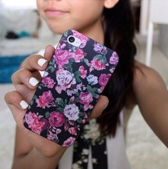 pink floral phone case iphone case cute