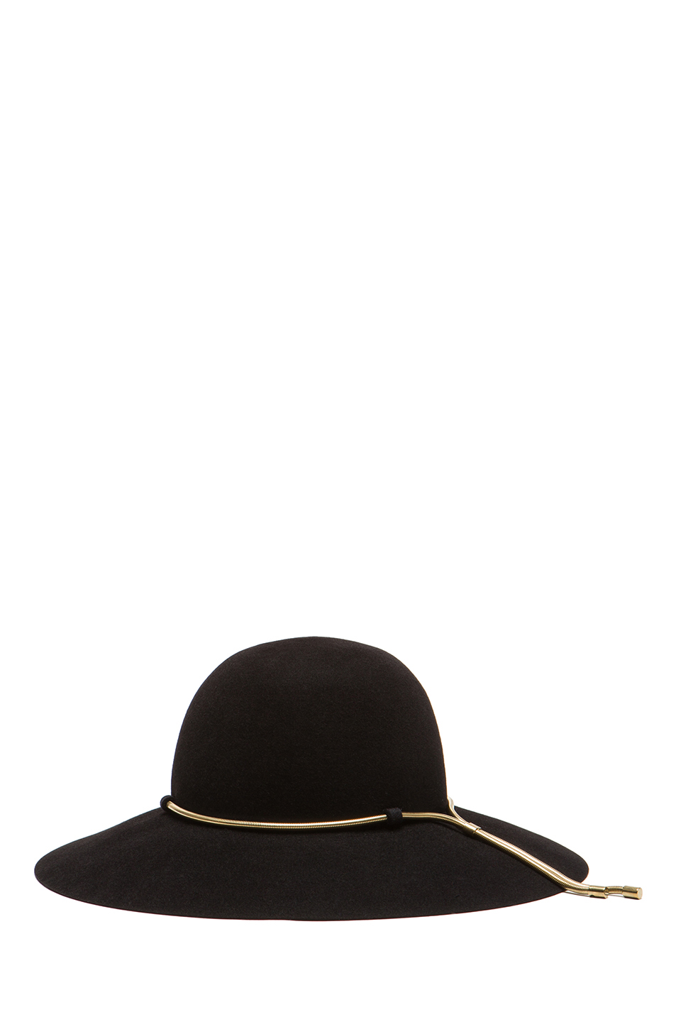 Lanvin | Capeline Hat with Chain in Black