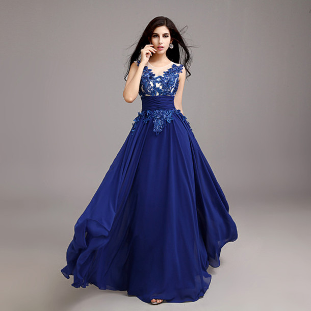 Royal Blue Evening Gown Dresses - Fashion Ideas