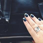 nail polish,nails,matte nail polish,matte black,gold nailpolish,dark nail polish