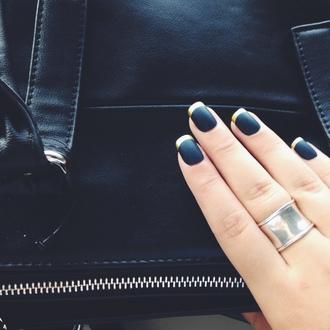 nail polish nails matte nail polish matte black gold nailpolish dark nail polish