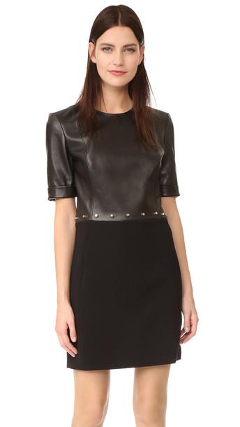 MUGLER dress short sleeve dress short black