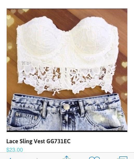 blouse t-shirt shirt white crop tops bustier