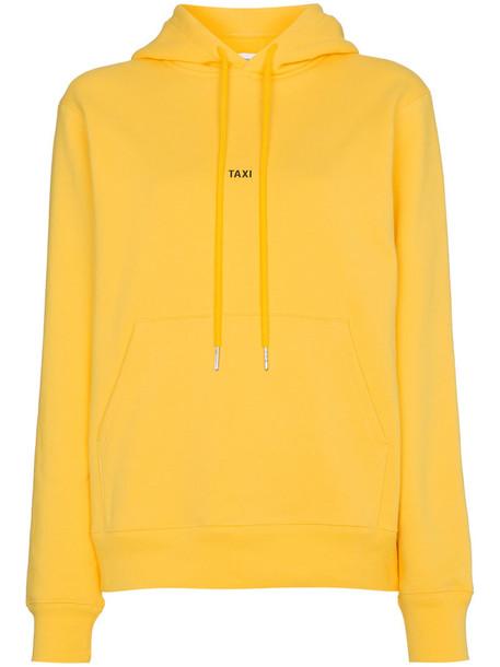 Helmut Lang hoodie women cotton yellow orange sweater