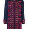 Oscar de la renta - stud and tassel detail coat - women - cashmere/wool - 0, blue, cashmere/wool