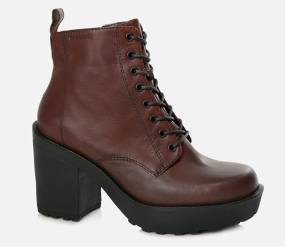 urban outfitters boots fall ankle boots brown brown boots brown booties booties vagabond doc martens dr. marten jeffrey campbell solestruck asos