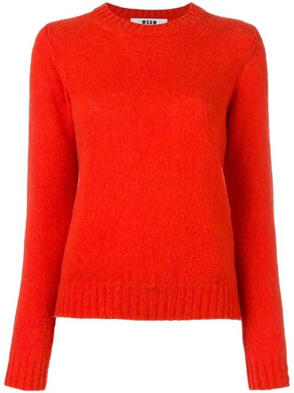 jumper women wool yellow orange sweater