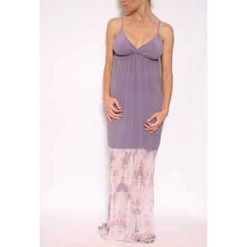 05 Talya Silk Maxi Dress in Purple