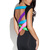 Multi Party Dress - Black Boycon Dress with Bright | UsTrendy