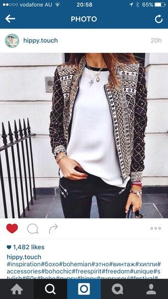 jacket studded jacket embellished jacket boho chic