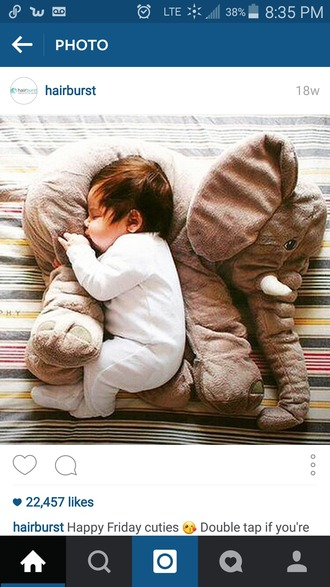 home accessory baby elephant body pillow