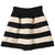 Black Apricot Striped High Waist Elastic Flare Skirt - Sheinside.com