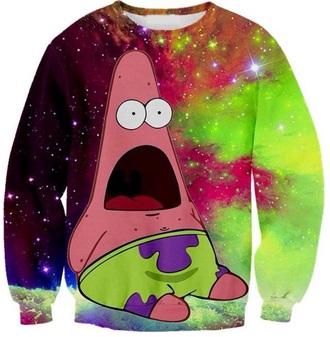 sweater woah patrick galaxy leggings