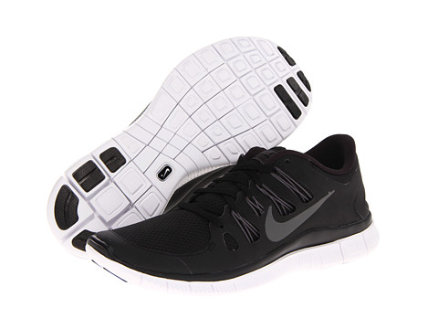 Nike Free 5.0  Black/Dark Grey/White/Metallic Dark Grey - Zappos.com Free Shipping BOTH Ways