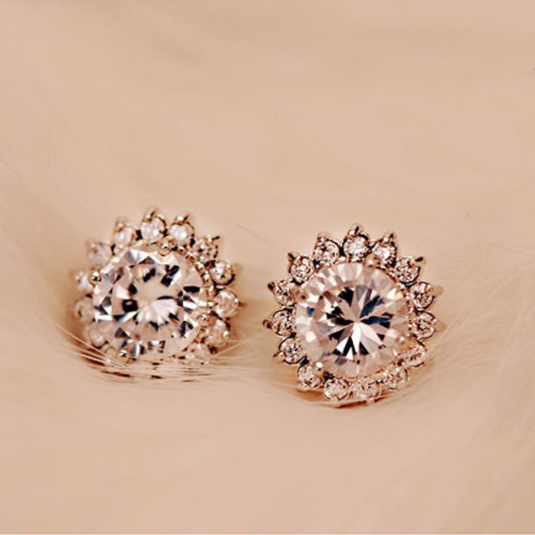 jewels earrings beautiful zircon stone