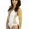 Rocky barnes white lace up one piece
