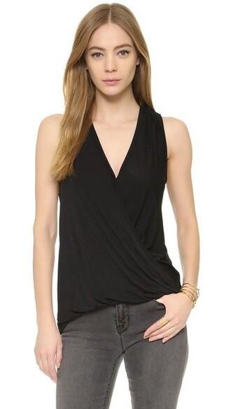 blouse back black top